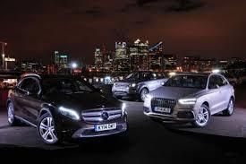 audi q3 vs gla mercedes gla vs audi q3 vs range rover evoque auto express