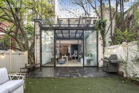 Slope House 2 75m Park Slope Townhouse Has A Sky Lit Glass Extension And A