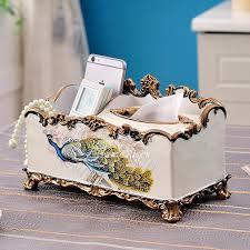 decorative tissue box tissue box cover resin modern vintage rustic rectangular