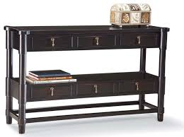 Black Console Table Antique Black Finish Sofa Table W Shelf U0026 6 Drawers Console