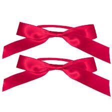 satin ribbon bows satin ribbon bow ponytailers beauty