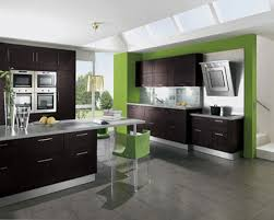 exquisite kitchen island design with dark grey granite counter top