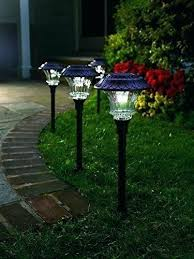 Solar Powered Landscape Lights Solar Landscaping Lights Solar Yard Lights Plow Hearth Solar Path