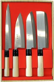 coffret de couteaux de cuisine coffret de 4 couteaux japonais jaku tradition