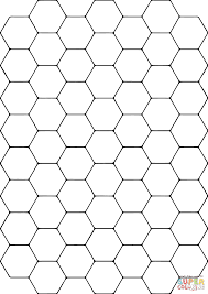 tessellation with hexagon coloring page free printable coloring