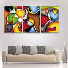 2017 3 panel hd prints canvas art abstract figure color horse face 2017 3 panel hd prints canvas art abstract figure color horse face painting modular picture for home decor wall decorate living room from anhonestseller