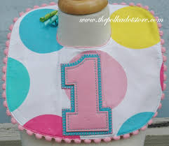 1st birthday bib girl dots 1st birthday bib by mud pie girl dots 1st birthday bib