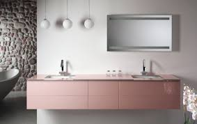 Lying Vanities Definition Artelinea U0027s Modern Double Sink Bath Vanity In Cute Pink Monolite