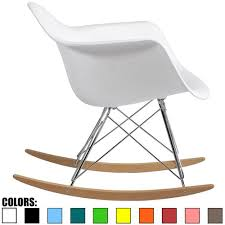 Eames Rocking Chair For Nursing Amazon Com 2xhome White Eames Chair Rocker White Eames Rocker