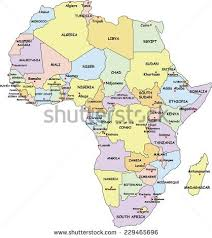 map of africa with country names country stock images royalty free images vectors