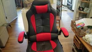 aminiture reclining office gaming chair in black and red youtube