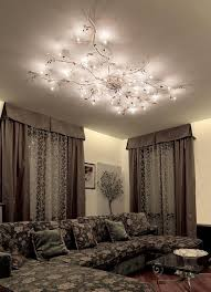 Mesmerize Your Guests With These Gold Contemporary Style Ceiling - Lighting designs for living rooms