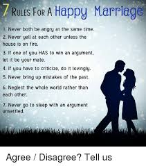 Happy Marriage Meme - rules for a happy marriage 1 never both be angry at the same time