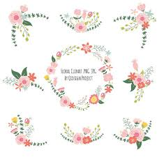 peach flower clipart floral wedding pencil and in color peach