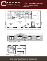 schult modular home floor plans schult hearthside iv excelsior homes west inc
