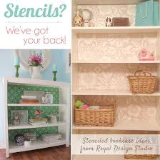 Bookcases Ideas Stenciling And Pattern Ideas For Bookcases And Cabinets Royal
