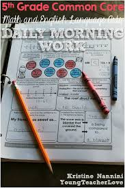 5th math and english language arts daily morning work check out