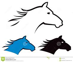 mustang horse logo horse logo stock vector image of head fast hair gallop 32672570