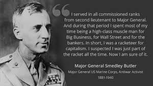 Us Marine Meme - major general smedley butler the military industrial complex s