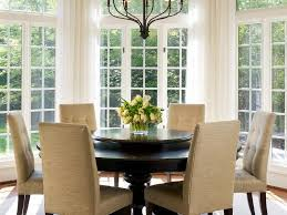 how to hang curtains how to hang curtain rods transitional dining room by barnes