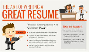 Tips For Writing A Resume The Art Of Writing A Perfect Resume