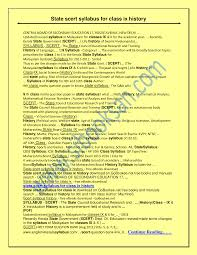 state scert syllabus for class ix history documents