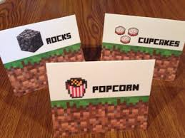 minecraft food tent signs mindbodysoulessentials