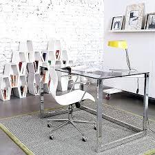 White Desk Glass Top Desk Chrome Office Desk Accessories White Desk Design Desk 140cm
