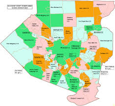 A Map Of Pennsylvania by A Map Of Your County U0027s Districts Area Rain