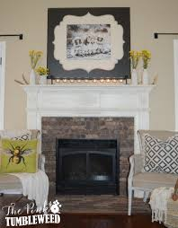 brick fireplace make over with old mill thin brick in cafe mocha