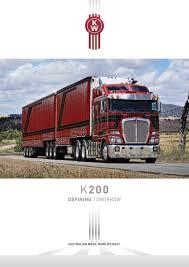 kenworth trucks bayswater kenworth k200 brochure k200 0316w by paccar australia issuu