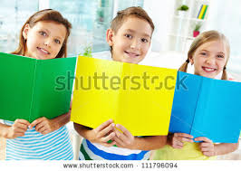classmates books portrait happy classmates books smiling stock photo