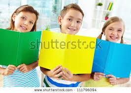 classmates books portrait happy classmates books smiling stock photo