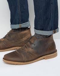 jack u0026 jones gobi warm lining desert boots in brown for men lyst