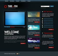 templates for video website video gallery website template 21714