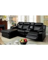 deal alert furniture of america tristen reclining l shaped