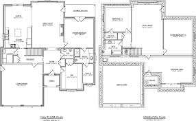 one story home plans with basement pleasant 3 plans plan 17 844