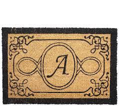 Coco Doormat Handcrafted Monogrammed Initial 2 U0027x3 U0027 Rectangle Coco Doormat