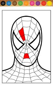 coloring appealing spider man painting spiderman clipart