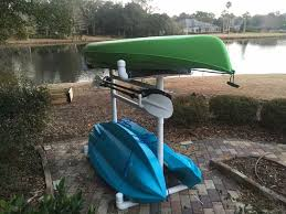 how to make an outdoor kayak storage rack 7 steps