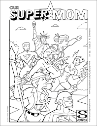 super mom coloring pages getcoloringpages com
