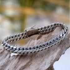 love braided bracelet images Men 39 s sterling silver link bracelet love links novica jpg