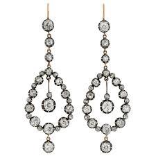 dramatic earrings dramatic diamond teardrop earrings 7 26ctw for sale at