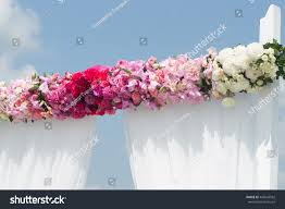 wedding arch decorated stock photo 444549562