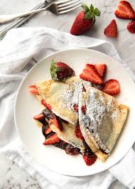 cuisine crepe nutella crepes with strawberries recipetin eats