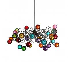 multi colored light fixture lighting fixtures multicolored bubbles ceiling light with metal wire