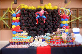 Spiderman Decoration Spiderman Birthday Party Ideas Photo 1 Of 18 Catch My Party