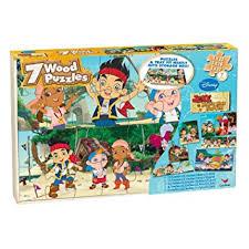 amazon jake neverland pirates 7 wood puzzles