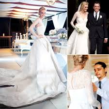 caroline trentini and olivier theyskens celebrity wedding dress