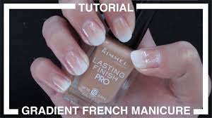 tutorial gradient french manicure youtube